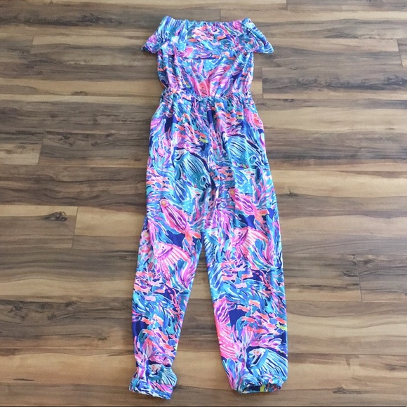 ecb6b2c94cdf7c Lilly Pulitzer Pants - Lilly Pulitzer True Blue Seas The Day Jumpsuit